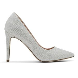 New Women's Sparkly Silver Shimmery Pumps